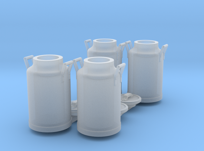 set of 4 milk can scale 1/35