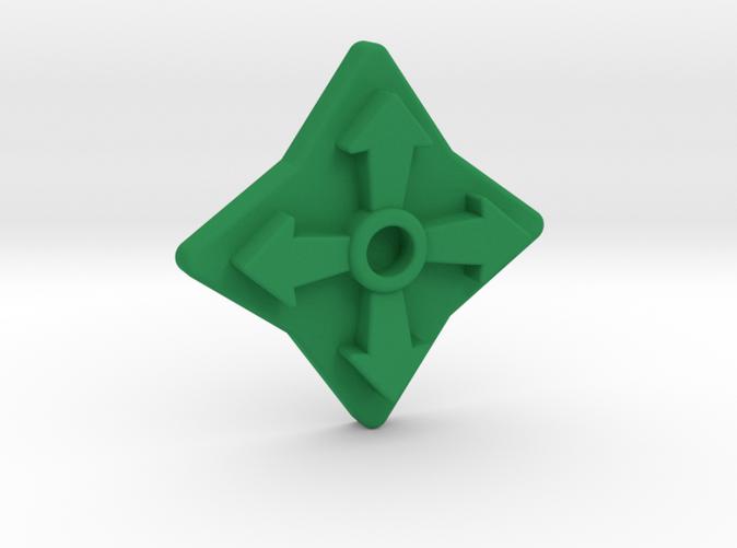 Render in green strong & flexible nylon plastic.