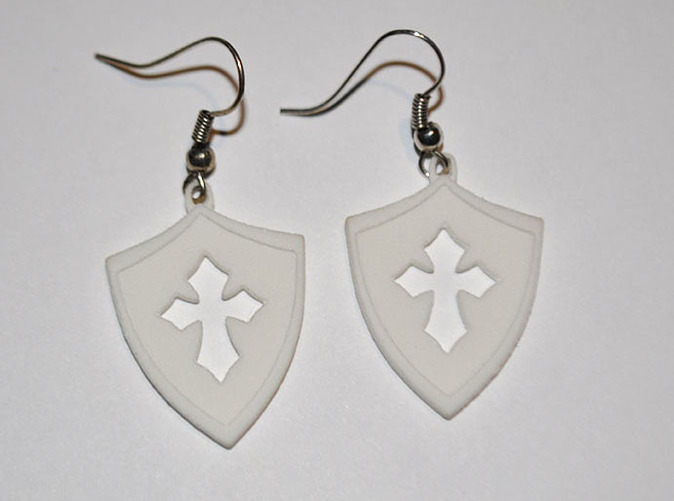 Cross cutout earings