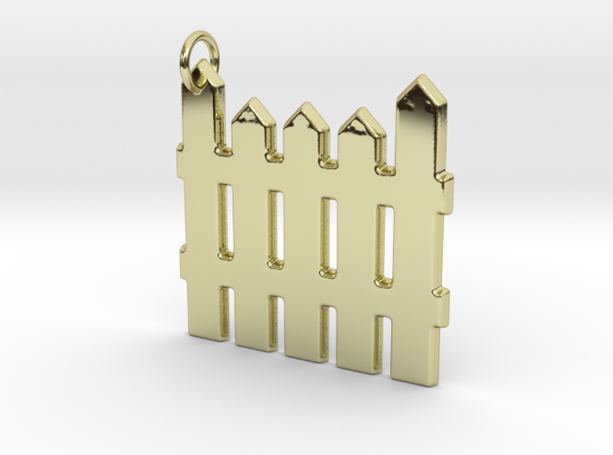 18k Gold Plated Fence