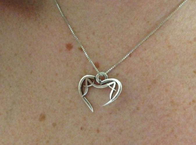 A&A Open Heart Pendant (Silver Glossy)