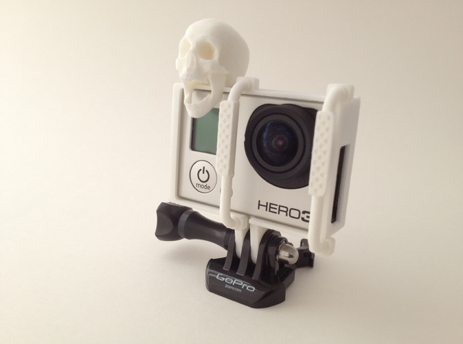 GoPro Hero 3 Frame - Screaming Skull button with Ram Bar