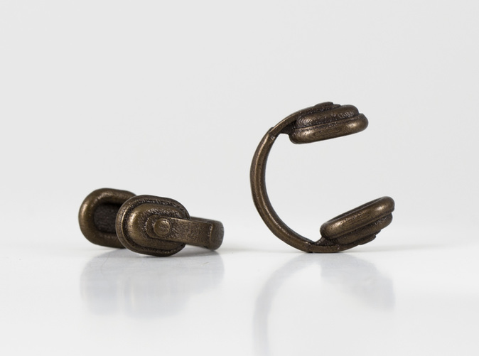 Bassline Headphones Cufflinks - Antique Bronze
