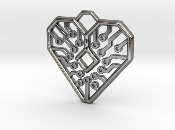 Circuit Heart Pendant