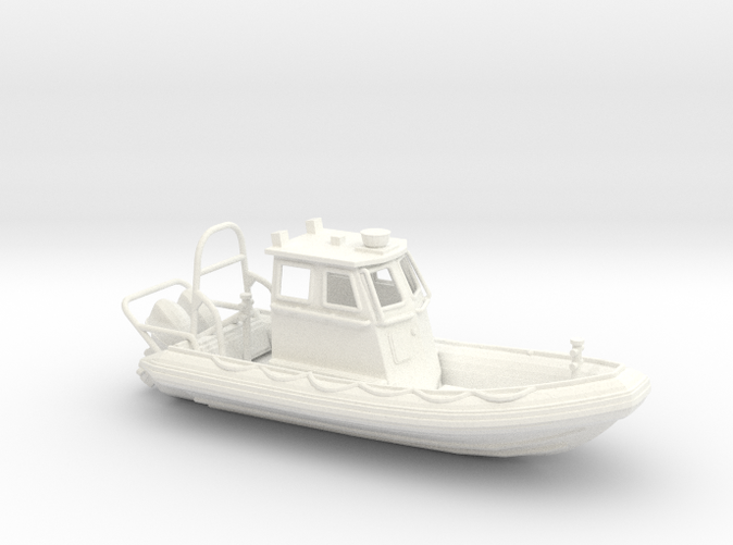 RIB Zodiac hurricane boat in HO scale (1:87)