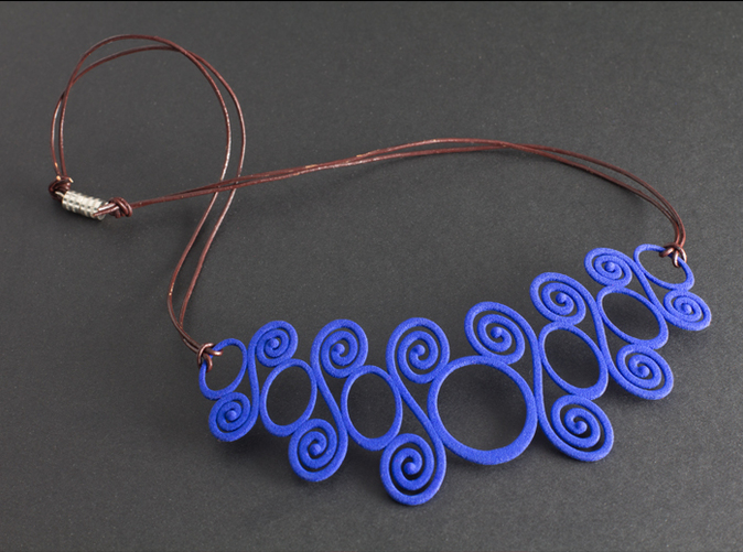 Spirals & Circles Necklace (Royal Blue Strong & Flexible).
