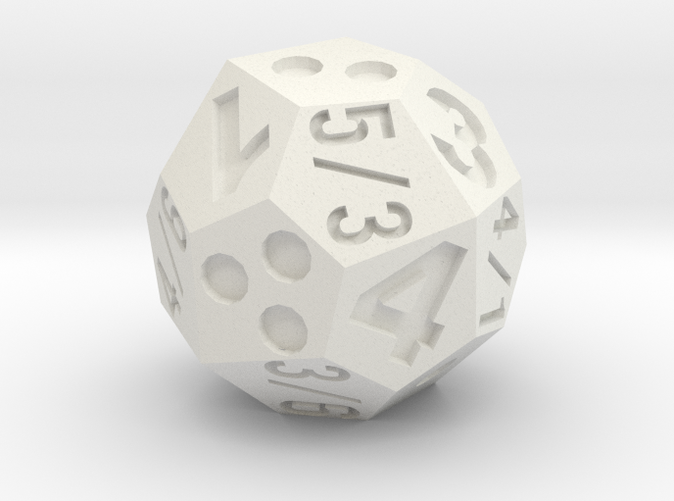 if this were looking straight down at the die, the result would be: d4=3, d6=3, or d8=4
