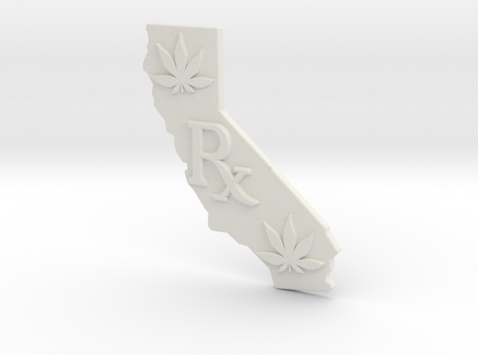 California Rx, Pot leaf, White Strong Flexible
