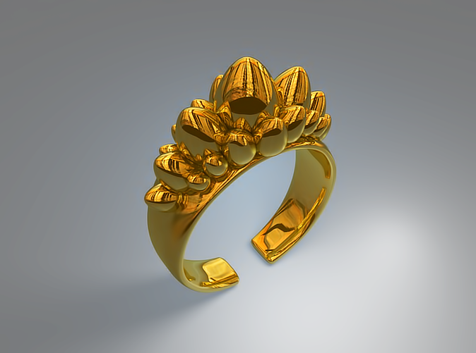 Dino Eggs ring (Gold)