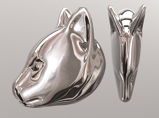 Polished Silver Finish (simulation Render)