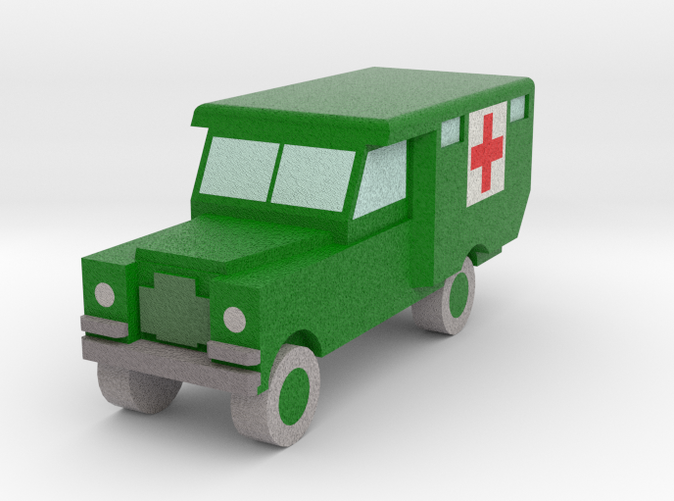 Land Rover ambulance, army green