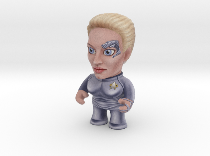 Seven of Nine Star Trek Caricature