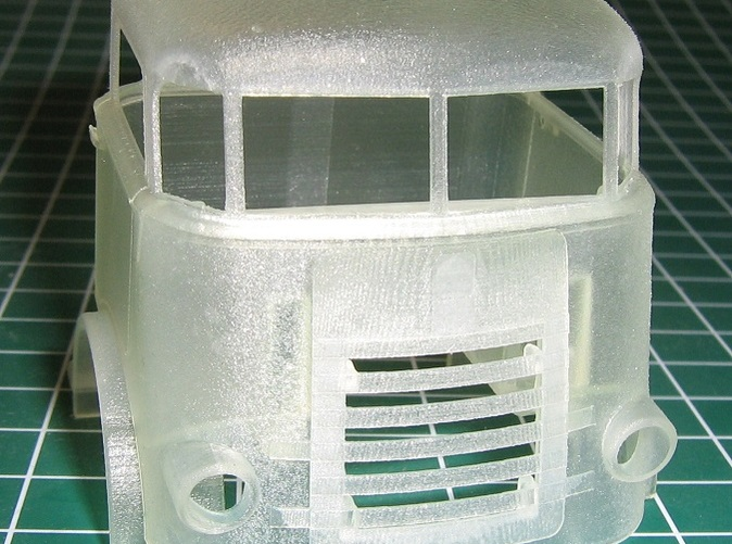 Front View of cab assembly
