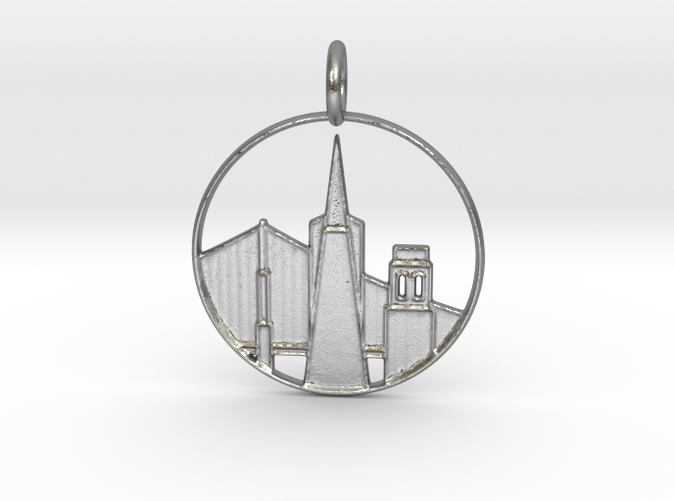 San Francisco Pendant with Loop (different materials have different prices)