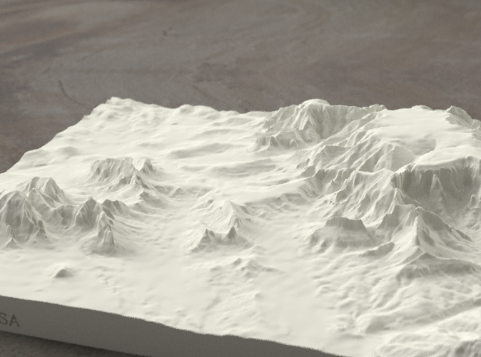 Radiance rendering of model, viewed from SSE