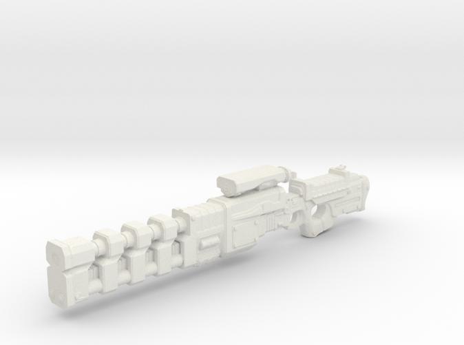 Railgun - gun for 1:18th scale action figures