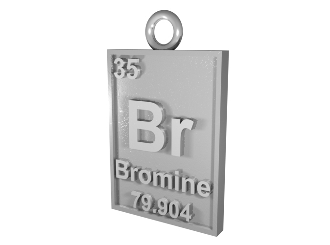 CGI Render of the Bromine Pendant in Silver