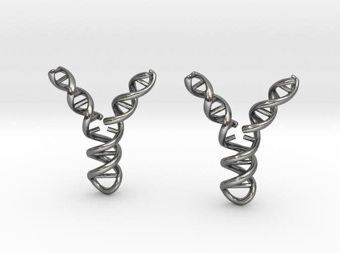 Replicating DNA Earrings