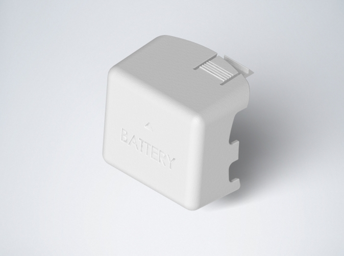 DJI Phantom Cable Guides Battery Door overview