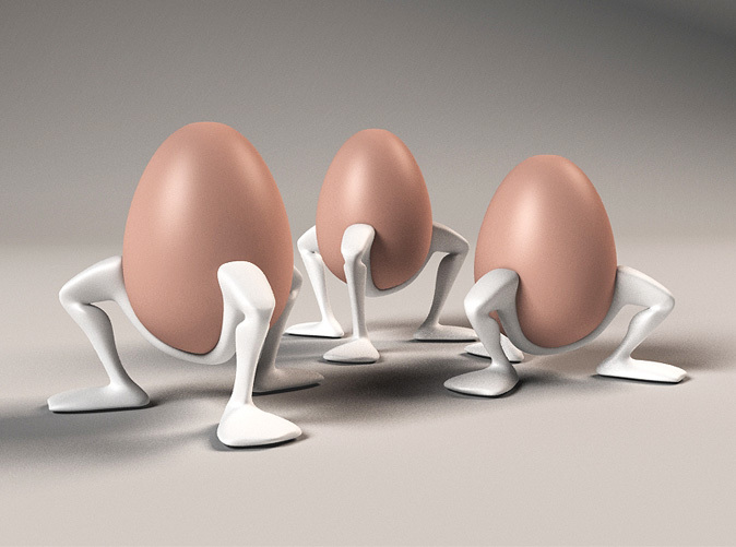 3 sizes egg cups 'Leggy''