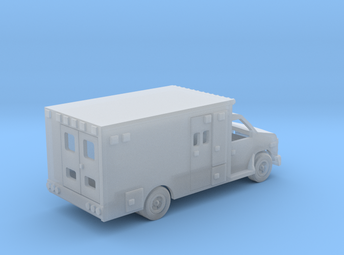 Ambulance Ford E 450 Z scale