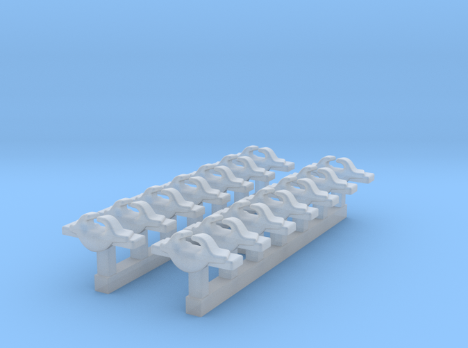 1/600 RN WW2 Cruiser Cleats x14