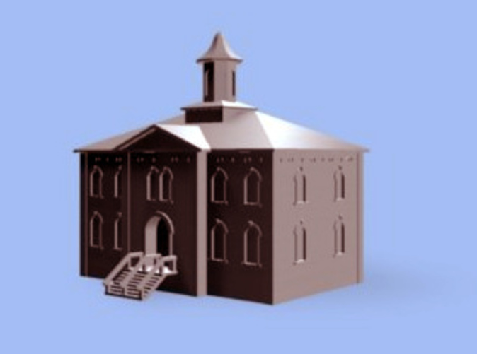 School House 3D Rendering