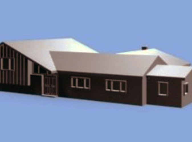 3D Model Rendering of Brady Bunch Home