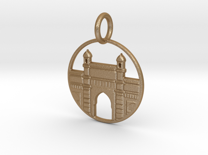 Gateway of India in Gold Steel