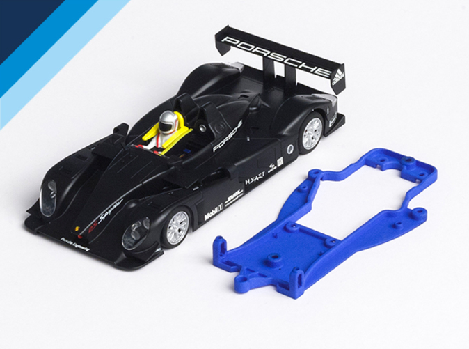 Chassis compatible with Avant Slot Porsche RS Spyder body (not included)