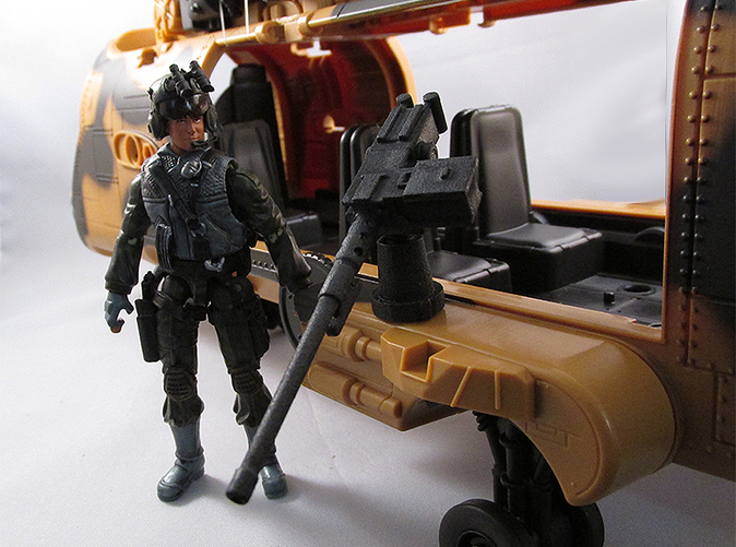 upgrade your 1/18 vehicles with this modular 50 caliber machine gun. Some retooling and assembly is required for installation.