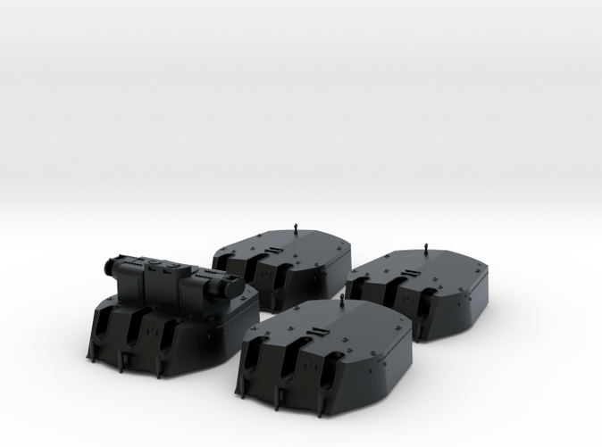 1/144 RN 6 Inch MKXIII Crown Colony Class Turrets