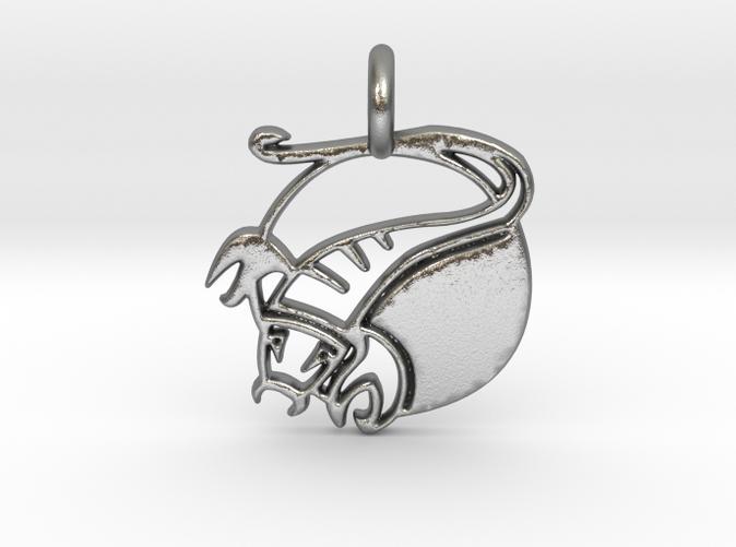 Astrology Zodiac Scorpio Sign in silver is shining.