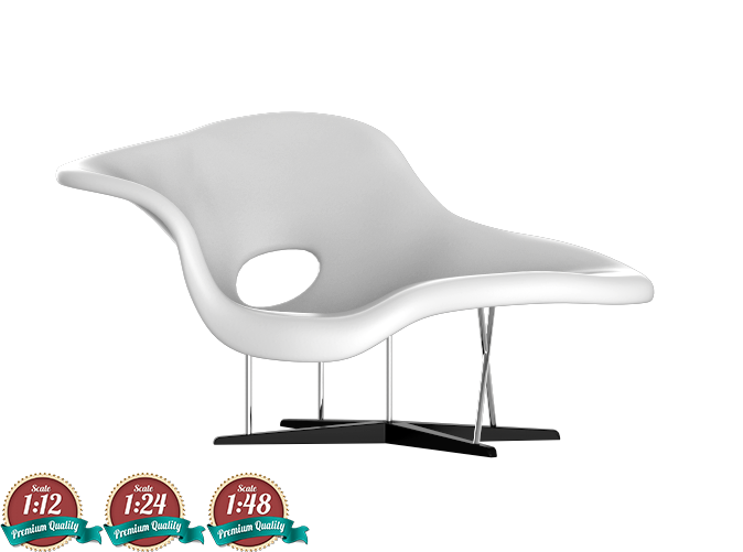 Excellent Miniature Eames La Chaise Ray Charles Eames Ibusinesslaw Wood Chair Design Ideas Ibusinesslaworg