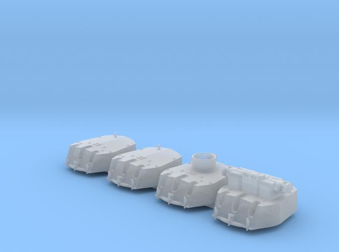 """1/700 RN Triple 6"""" MKXXIII Turrets (4) HMS Fiji"""