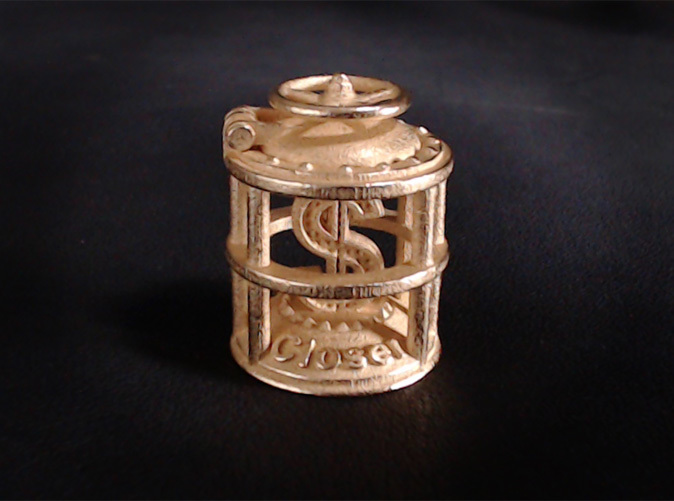 Shown in Polished Gold Steel