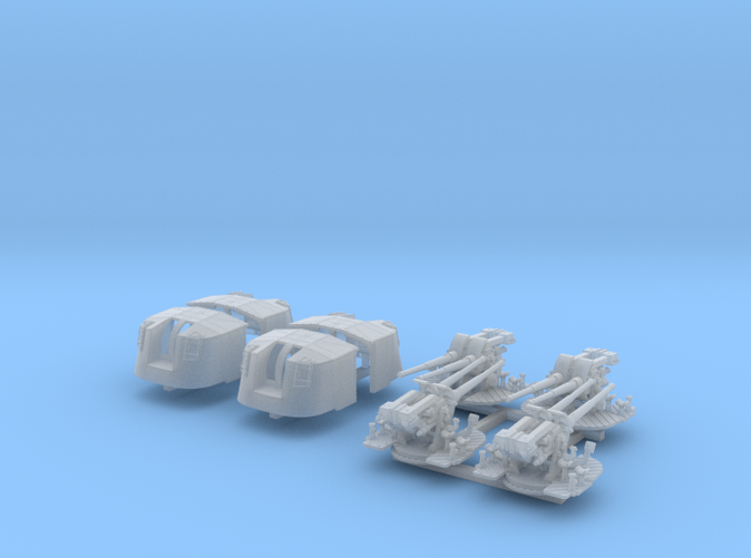 """1/350 4.7"""" MKXII CPXIX Twin Mount x4 Sights Closed"""