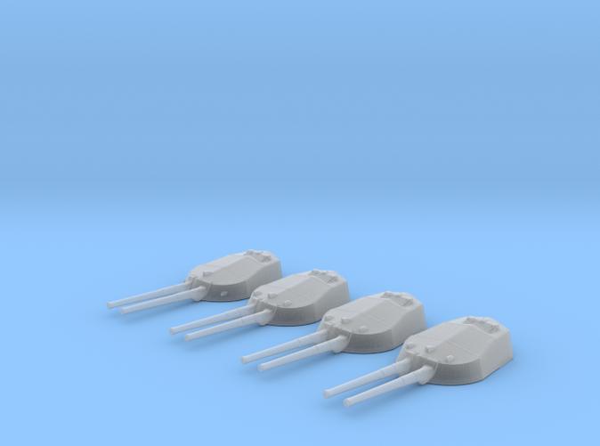 """1/700 RN WW1 13.5"""" MKV Guns x4 HMS Tiger"""
