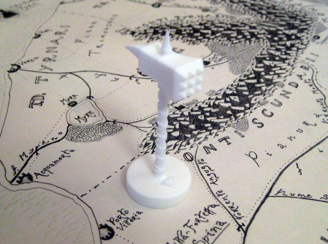 Warhammer in Strong & Flexible Plastic (Polished White)