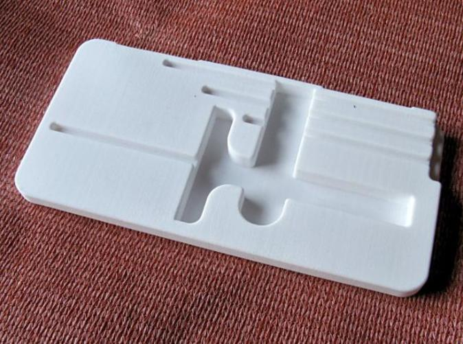A replacement for a decaying, badly laid out case insert for a depth micrometer set