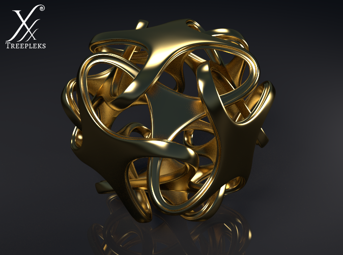 Cycle render (polished brass).