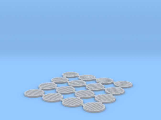 Manhole cover in HO scale (1:87). FUD