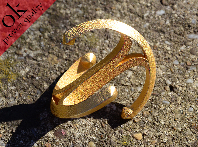 in polished gold steel