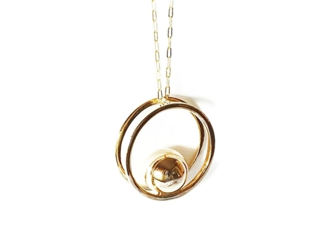 Balance Minimalist Pendant in Polished Bronze.