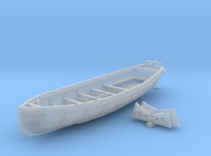1/144 Scale Royal Navy 32ft Cutter x1