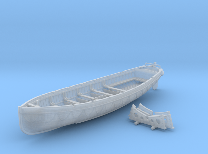 1/96 Scale Royal Navy 32ft Cutter x1
