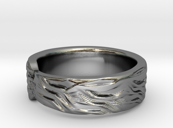 Tiger Textured & Tapered Ring