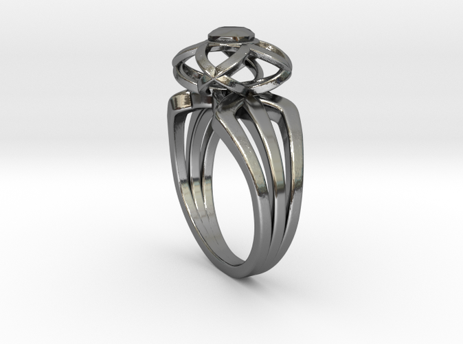 3-2 Enneper Curve Triple Ring (002)