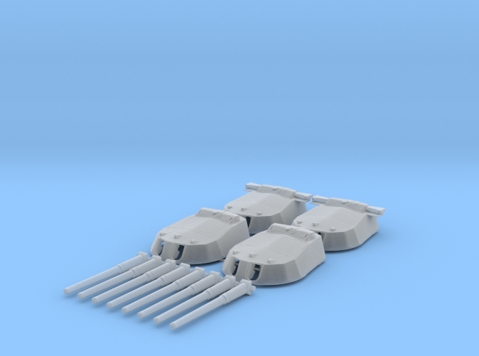"1/200 15"" MKI 'R' & Queen Elizabeth Class Guns x4"