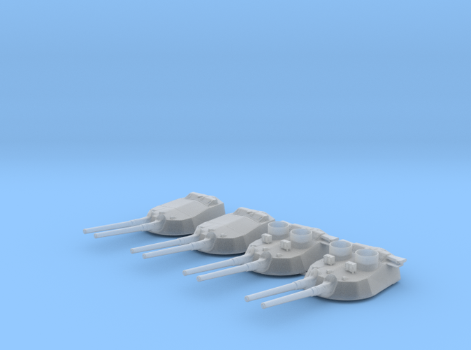 "1/350 15"" MKI* HMS Warspite Guns 1942 w. Blast Bags"